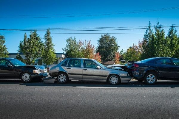 Who is at fault in a multi-vehicle crash