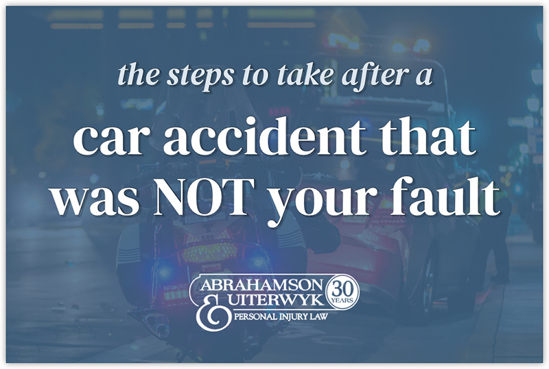 what to do after a car accident not your fault