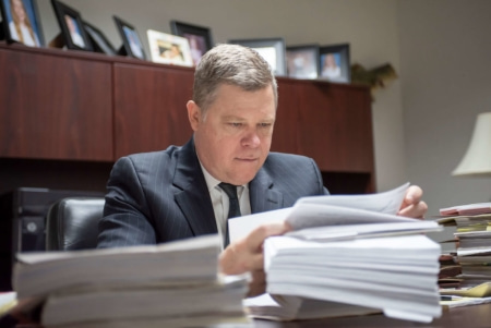 personal injury attorney in Tampa preparing for court